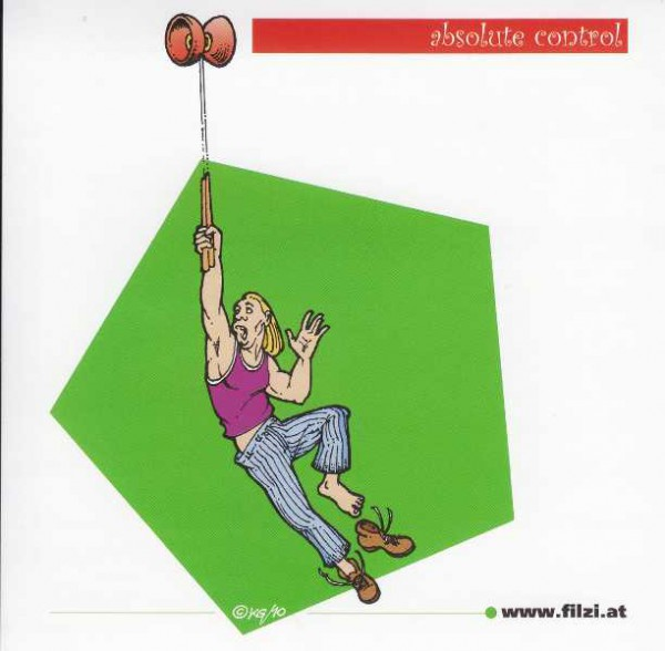 "Diabolo Sticker ""absolute control"""